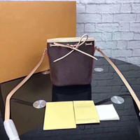 eski bağcık toptan satış-Mini İpli Tasarımcı yeni orignal Tuval hakiki deri bayan postacı çantası telefon çanta moda satchel omuz çantası çanta Toptan