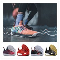 Wholesale Elastic Balls - hot 2018 Arrival vapormax James Harden 2 Vol.2 Men's Basketball Shoes Wolf Grey Sports Basket Ball Sneakers Training Boost Size 7-11.5