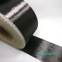 """ingrosso gele semplice-[Grado B 3.4Gpa] 300gsm 4 """"/ 10cm Fibra di carbonio 12 k UD Uni-direzionale Tessuto di stoffa Rubinetto Materiale di riparazione ad alta resistenza"""