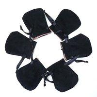 sacos de armazenamento de tecido zip venda por atacado-Sacos De Veludo Preto Branco Fit Pandora Europeu Jóias Embalagem Beads Encantos e pulseiras colares Moda Jóias Pendant Bolsas