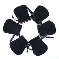 colgantes negros collares al por mayor-Bolsas de terciopelo blanco negro Fit Pandora Europea Joyas Cuentas Empaques Encantos y pulseras collares Joyas Moda Colgante Bolsas
