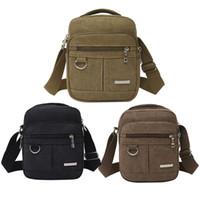 okul çantası çantası toptan satış-Erkek Messenger Çanta Casual Seyahat Okul Çantaları Erkekler Messenger Çanta Erkek manşonları Çanta için Moda Erkekler Omuz Çantası Kanvas Çanta