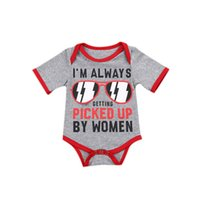 очки одежда оптовых-Summer 2017 Newborn Kids Infant Baby Cotton Clothes Glasses Romper Jumpsuit Outfits 0-24M