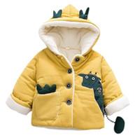 abrigo de bebé de venado al por mayor-Nueva Baby Girl And Boy Coat Deer Deer Fleece Invierno Otoño 6M-24 Ropa vieja