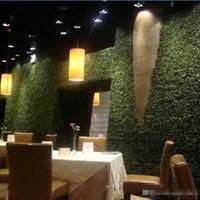 künstliche plastikmatten großhandel-60 x 40 cm Kunstrasen Kunststoff Buchsbaum Matte Topiary Baum Milan Grass für Gartenhaus Shop Hochzeitsdekoration Kunstpflanzen