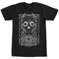 siyah şeker toptan satış-Kayıp Tanrılar Elmas Şeker Kafatası Mens Grafik T Gömlek Gevşek Siyah Erkekler Tişörtleri Homme Tees Yüksek Kalite Rahat Baskı Tee Kısa Kollu T-Shirt
