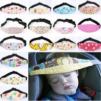ingrosso cinture per i neonati-Cintura di sicurezza per la testa del bambino Cintura di supporto per seggiolino auto Cintura di sostegno per il sonno per bambini Bambino Accessori per la sicurezza del sonno per neonati Cura del bambino HH7-1242