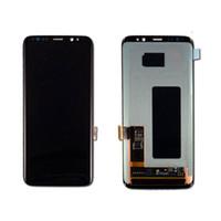 nuevo oem digitalizador de pantalla táctil al por mayor-Reemplazo del digitizador de la pantalla táctil de la nueva prueba AMOLED del OEM para el Samsung Galaxy S8 G950 S8 + S8 más G955