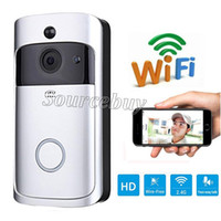 Wholesale wireless door camera intercom - Smart Wireless Doorbell HD 720P WIFI Video Doorbell Night Vision Motion Detection Alarm Door Phone Visual Intercom Camera Video Door Phones