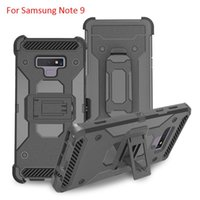 ingrosso casse di chiusura alcatel-Per Samsung Galaxy Note 8 Defender Armor Case per Motorola Z3 9 Gioca Google Pixel 3 XL Clip Kickstand Case per Alcatel 7 Folio