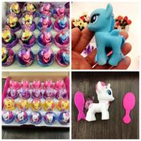 hermosa muñeca de regalo al por mayor-Encantadora muñeca unicornio Sorpresa Huevo Muñeca Niños Colección Figura Juguete para niños Figuras hermosas del caballo regalos de Navidad MMA1019