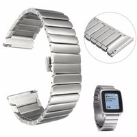 Wholesale pebble steel band online - mm mm Brand New For Pebble Time Steel Strap Stainless Steel Wrist Watch Bands Watchband Wriststrap Bracelet Butterfly Clasp
