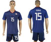 Wholesale cheap soccer uniforms kits - soccer jersey 2018 19 World Cup Japan OSAKO 15 camisetas de futbol home retro uniforms kit jerseys 2018 World Cup Jersey cheap custom