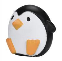 sorvete de lápis venda por atacado-11 CM Jumbo Kawaii Bonito Pinguim Squishy Lento Rising Aliviar O Stress Suave Doce Charme Scented kid Toys Presente Descompressão Brinquedo 150 Pcs