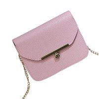 Wholesale toggle covers - Fashion Women's PU Leather Litchi Crossbody Bag Shoulder Bag Ms. Pure Color Hook Toggle Tote Small Party #F