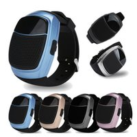 akıllı saat eller serbest toptan satış-B90 Akıllı İzle Kablosuz Hoparlör Kronometre Destek TF Kart Hands-Free FM Radyo Perakende Paketi Ile Anti-Kayıp Alarm Bluetooth Hoparlör