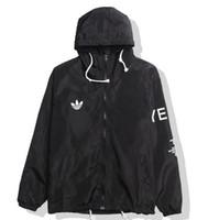 polyester rüzgarlıkçı erkekler toptan satış-KANYE WEST erkek Hip Hop Rüzgarlık MA1 Pilot erkek Turu YEEZUS Sezon Y3 Ceket ABD Boyutu Rüzgar Geçirmez Ceket