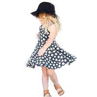 детские коляски оптовых-Девочка суспендер юбка цветочные Дейзи печатных платье дышащий прохладный колен летняя юбка с плечевыми ремнями брекеты юбка