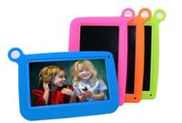 """четырехъядерный планшет оптовых-Дети Марка Tablet PC 7 """" Quad Core дети tablet Android 4.4 Allwinner A33 8GB Google player wifi + большой динамик + защитная крышка dhlfree"""