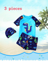 Wholesale boys kids trunk swimming - 2 Style Children's Swimsuits Boys Swimsuit Baby Boys Cartoon Swimsuit Sets Kids Swimwear Sunscreen Two-Pieces V 001