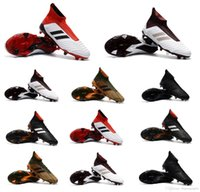 Wholesale Indoor Soccer Shoes Free Shipping - 2018 Free Shipping Mens Soccer Cleats Socks ACE 18+ Purecontrol FG Soccer Shoes ACE Pure Control Predator 18 Indoor TF IC Football Boots