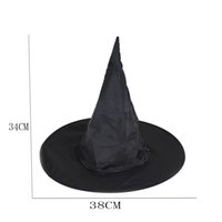Wholesale Halloween Costumes For Womens - Hot sale 1Pcs Adult Womens Black Witch Hat For Halloween Costume Accessory Peaked Cap