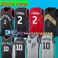 Wholesale embroidery jerseys - 2 Kawhi Leonard 10 Demar DeRozan Jersey Men's Toronto Raptors San Antonio Spurs Basketball Jerseys stitched Embroidery Logos