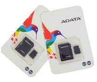 Wholesale Memory Cards For Wholesale - 2018 Hot selling ADATA 32GB 64GB 128GB Micro SD Memory Card SD Adapter Blister Package Class 10 TF Card for Android Smart Phones