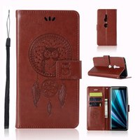 Wholesale chinese wind chime for sale - Group buy OWL Strap Wallet Leather Case For Huawei MATE LITE Sony Xperia XZ3 Xiaomi Poco POCOPHONE F1 Card Stand Wind chimes Skin Cover Luxury