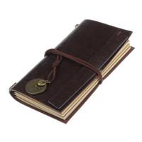revistas em couro venda por atacado-BLEL Hot Retro Clássico De Couro Do Vintage Vinculado Páginas Em Branco Diário Diário Diário Notebook cor: café