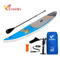 Wholesale Stand Up Paddling - Freein race explore,surfboard,paddle board inflatable sup inflatable stand up paddleboard with fin, pump, paddle, carrying bag