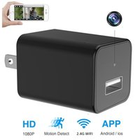 Wholesale Hidden Spy Cameras For Home - Hidden Camera HD 1080P WIFI IP Hidden Spy Camera USB Wall Charger Nanny Camera Adapter Wifi Motion Detection for Home Security Cameras