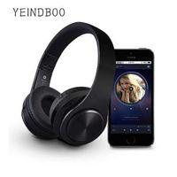 bluetooth kulaklıklar mobil toptan satış-YEINDBOO B7Wireless Kulaklıklar Bluetooth Kulaklık Katlanabilir Kulaklık PC Cep telefonu Mp3 Için Mikrofon Ile Ayarlanabilir Kulaklık