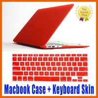 Wholesale apple laptop hard keyboard covers - Matte Hard Macbook Case + Keyboard Skin Cover Film Protective Case for MacBook Air retina Pro 11 12 13 15 inch