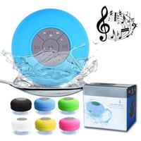 ingrosso palla blu bluetooth-Altoparlante impermeabile senza fili Bluetooth Mini altoparlanti subwoofer per la doccia Vivavoce per auto Ricevi chiamata Musica Aspirazione Mic per smartphone