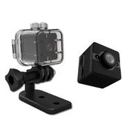 grabadoras de video al por mayor-SQ12 Mini cámara impermeable Shell 1080P HD 30M inmersión Deportes DV videocámara DVR Detección de movimiento Night Vision Video grabadora de voz