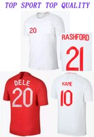 Wholesale football uk - 2018 World Cup UK soccer Jersey National Team Home White KANE STERLING HENDERSON WALKER VARDY ALI Away football Shirts Mens Soccer Uniforms