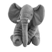 jouets pour bébé en peluche achat en gros de-33 * 40 cm Éléphant Doux Bébé Oreiller Bébé Sommeil De Voiture Coussin De Siège Enfants Portable Chambre Literie Farcies En Peluche Jouets Oreillers