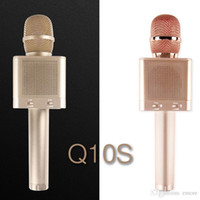 ingrosso karaoke marche microfono wireless-1 pz Originale marca MicGeek Q10S Wireless Karaoke Microfono 2.1 Sound Track Dimensional Sound Voice Change 4 Altoparlanti Smartphone Karaoke
