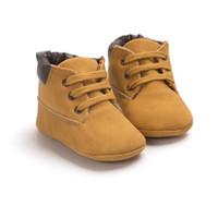 neugeborene stiefel großhandel-Neugeborenes Baby Jungen Classic Handsome First Walkers Schuhe Babe Infant Toddler Soft Soled Boots