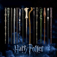 Wholesale Wholesale Magic Wands - 28 Styles Harry Potter Wand Magic Props Hogwarts Harry Potter Series Magic Wand Harry Potter Magical Wand With Gift Box CCA9102 100pcs