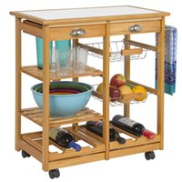 Wholesale Food Choice - Best Choice Products Rolling Wood Kitchen Storage Cart Dining Trolley W  Drawers