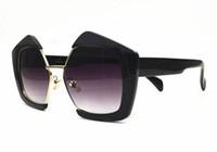 yıldızlara gel toptan satış-Yıldız gelgit marka Bayanlar Güneş Gözlüğü moda SMU popüler kişilik büyük yarım çerçeve kadın gözlük orijinal kutusu ile gel