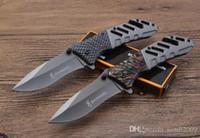vente chaude couteaux de camp achat en gros de-Vente chaude survie couteau de camping browing nouveau couteau pliant A339 2 styles 440blade 58HRC couleur box prix de gros, outils de plein air EDC