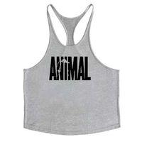 y weste großhandel-Animal Gyms Tank Top Männer Training Kleidung Bodybuilding Stringer Männer Muskel Westen Baumwolle Y zurück Singlets debardeur fitness homme