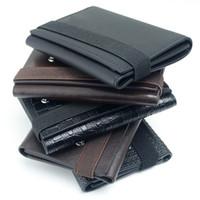 Wholesale Luxury Brand mens shirt Cufflink Genuine Leather wallet Man Mini Wallet Calfskin MT Wallet Credit Card Holder High Capacity Cash Clip