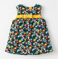 ingrosso immagini baby tutus-Gilet abiti fiore misto formato autunno sping bambini vestiti abiti per ragazze full Sleeve tessuto di cotone bambino vestiti bambini vestono all'ingrosso