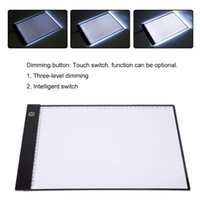 Wholesale Art Drawing Boards - A4 LED Digital Tablet Writing Paint Copy Pads Board Artcraft Table with Scale Art Drawing Board 3 Level Dimming Diamond Painting