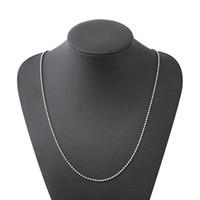 ingrosso accessori di collana in perline per donna-Collana a catena in rilievo dell'acciaio inossidabile per gli uomini donne geometriche catene placcate argento clavicola semplici accessori dei monili della collana all'ingrosso