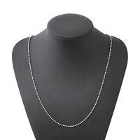 perlen halskette zubehör für frau großhandel-Edelstahl Perlen Kette Halskette Für Frauen Männer Geometrische Silber Überzogene Schlüsselbein Ketten Einfache Halskette Schmuck Zubehör Großhandel